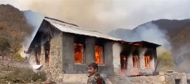 German portal highlights burning of houses by Armenians before Kalbajar handover