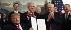 Trump signs proclamation recognising Israel's sovereignty over Golan Heights